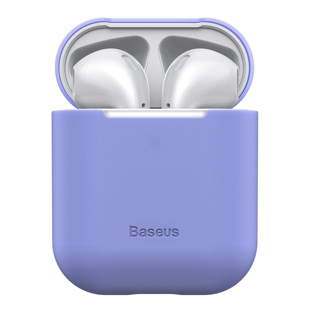 Baseus AirPods Silikon Schutztasche für Kopfhörer 2gen / 1gen lila