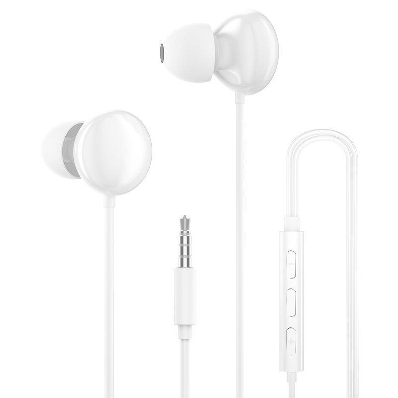 Dudao Kopfhörer mini jack 3,5 mm Headset mit Fernbedienung weiss