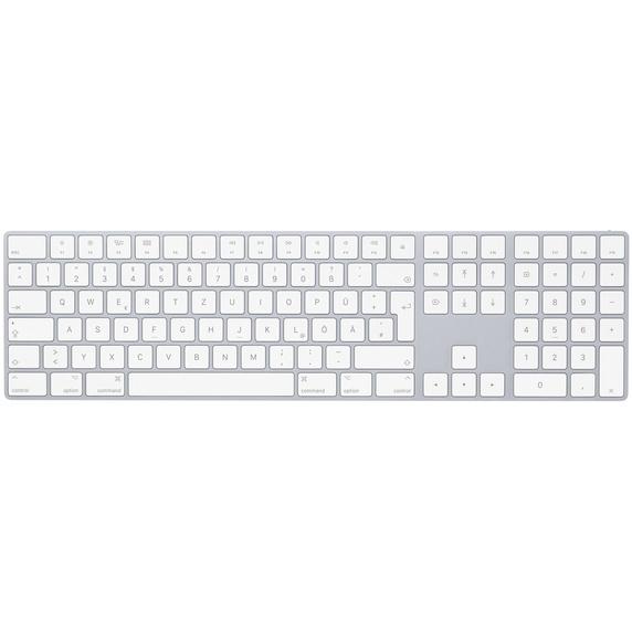 Apple Magic Keyboard mit Ziffernblock, Tastatur silber, Englisch International