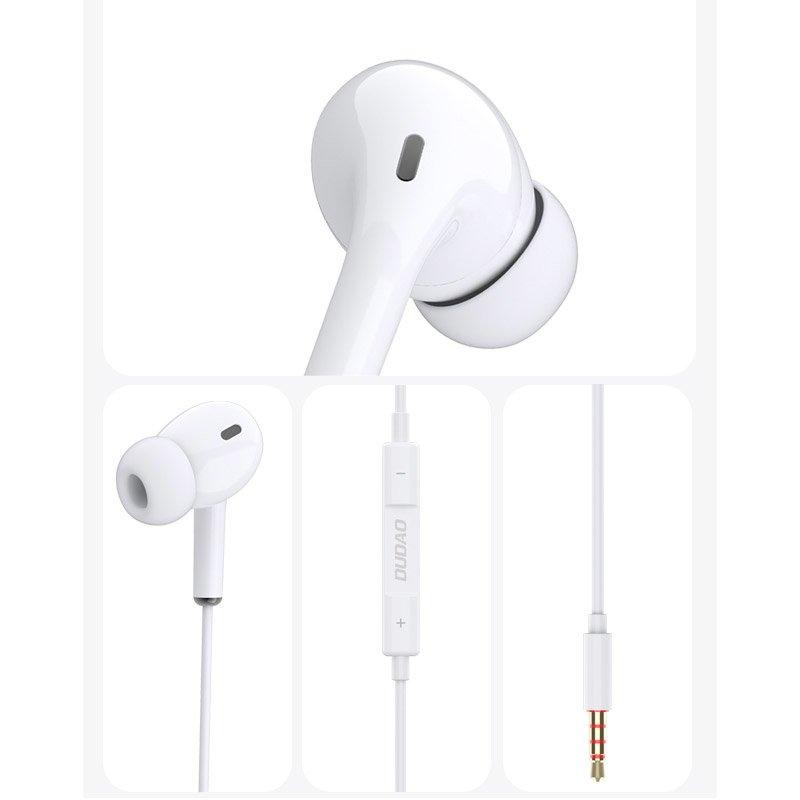 DUDAO Kopfhörer 3,5 mm mini jack Headset mit Fernbedienung weiß