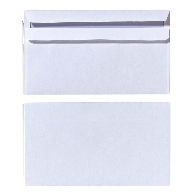 Herlitz Briefumschlag DIN lang Weiß mit Innendruck 100 Stück ohne Fenster