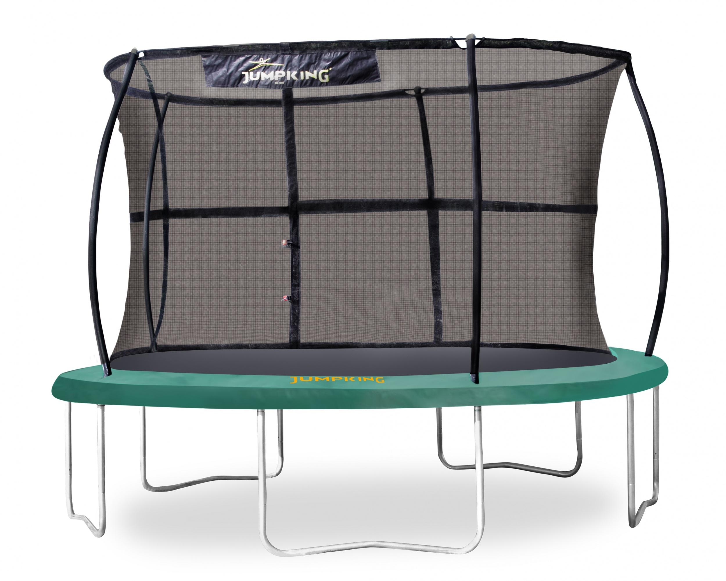 Jumpking trampolin mit JumpPod ClassicSicherheitsnetz 366 cm grün