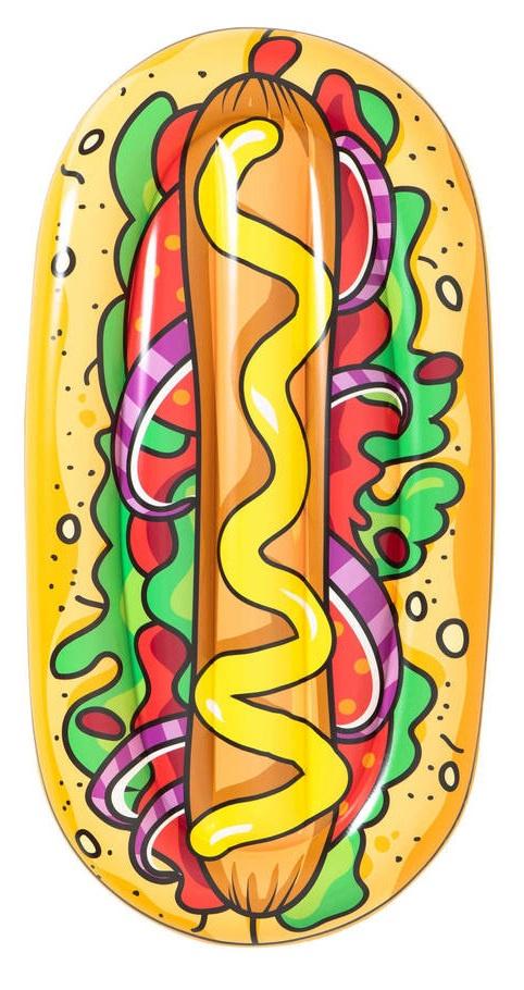 Aufblasbare Luftmatratze Matratze Schwimmliege Poolliege Stuhl Intex Bestway - Auswahl: Bestway Hotdog 190 x 109 cm