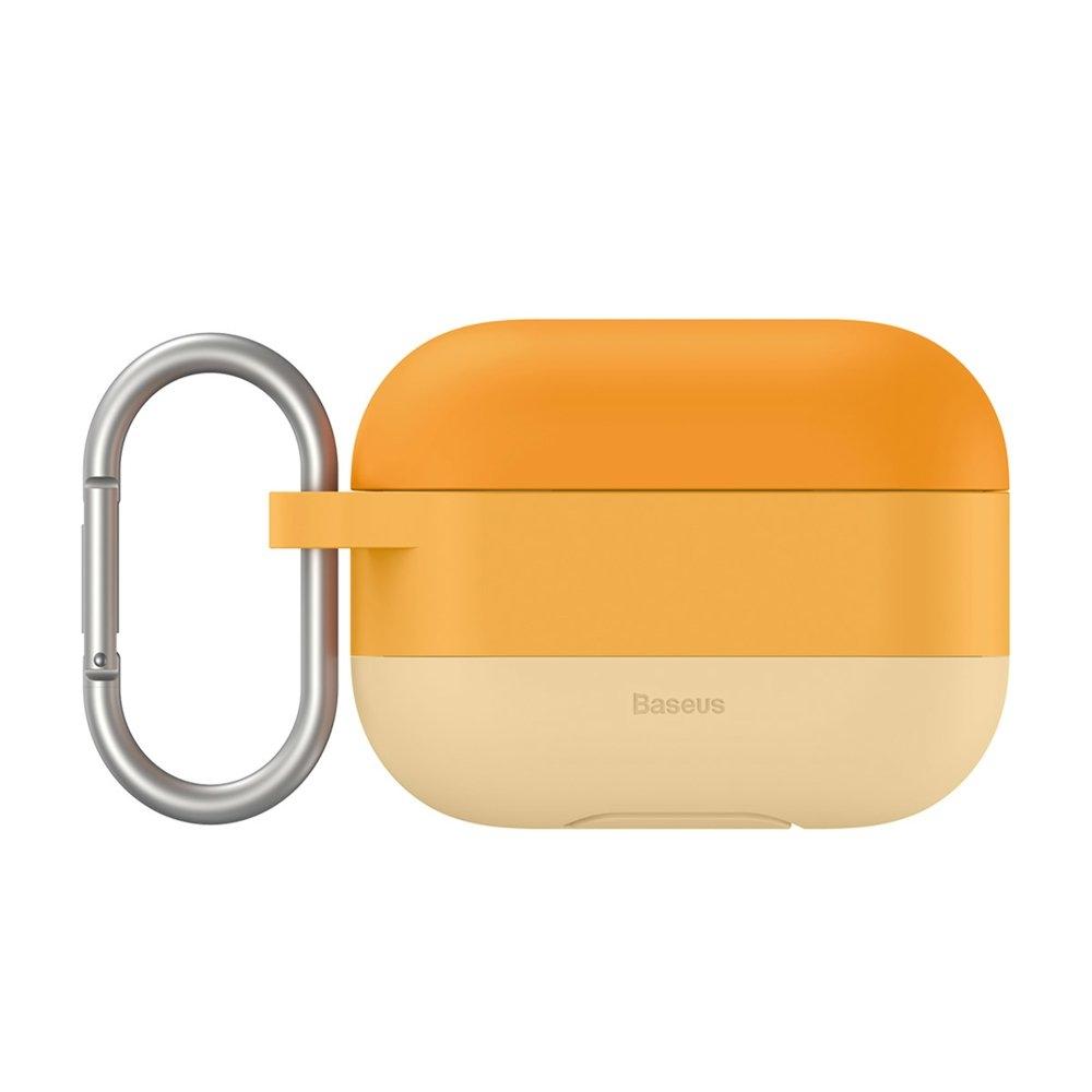 Baseus Silikon Schutztasche für Apple AirPods Pro + Anhänger orange
