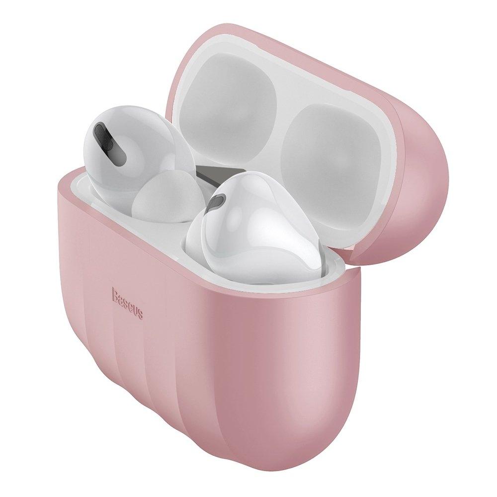 Baseus Shell Silikon Schutztasche für Apple AirPods Pro Kopfhörer pink