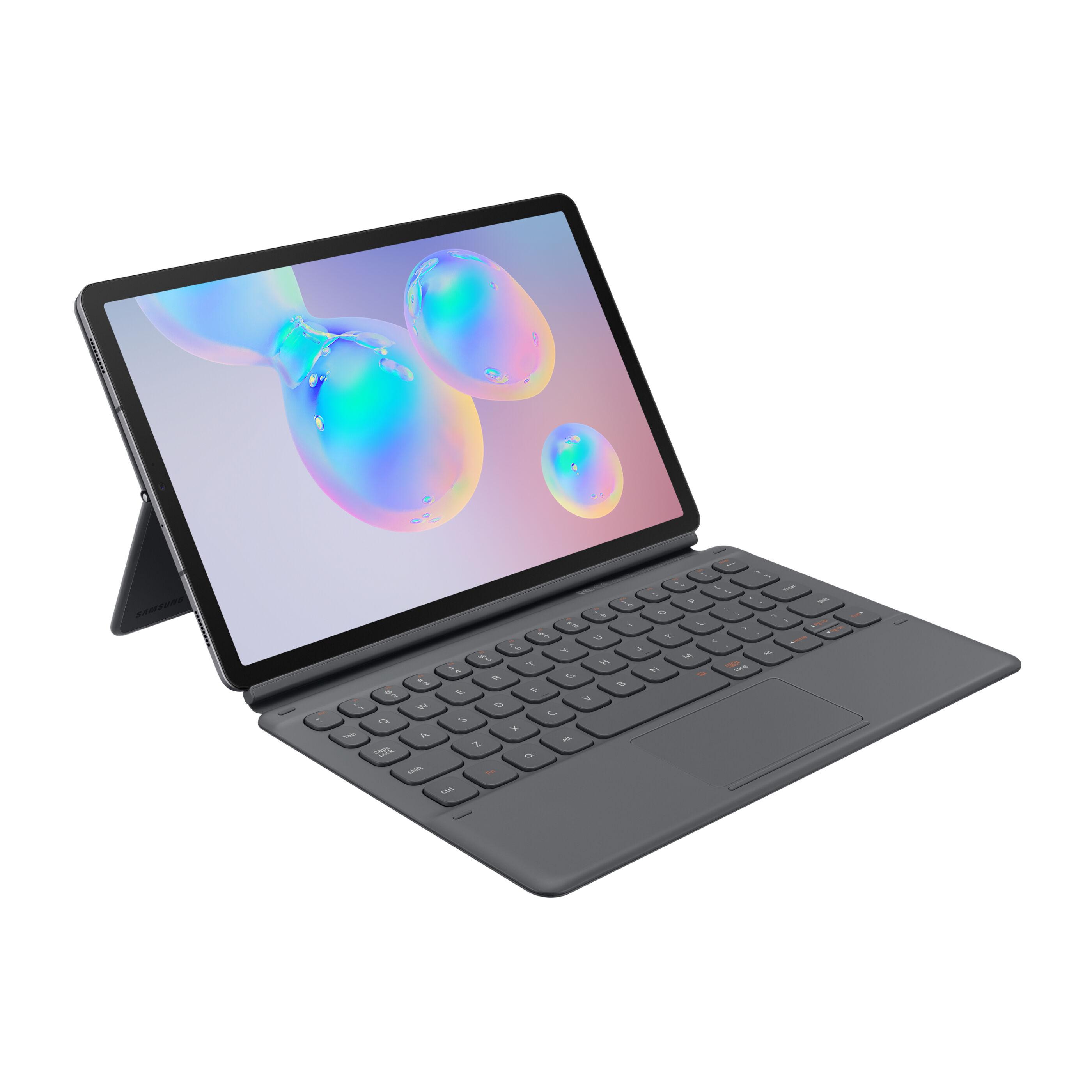 Book Cover Keyboard (EF-DT860), Tastatur grau, für Galaxy Tab S6