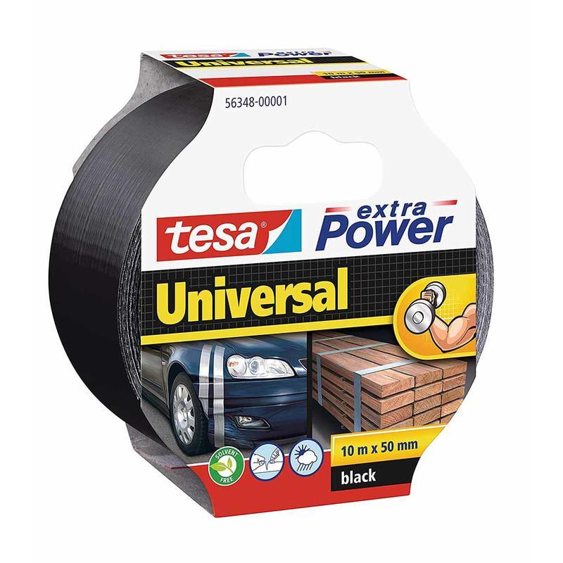 tesa Gewebeband 50mm extra Power Universal Schwarz 10m