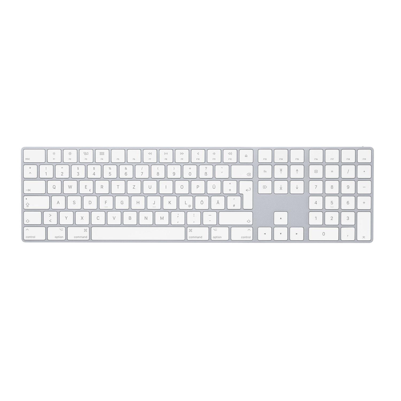 Apple Magic Keyboard mit Ziffernblock, Tastatur silber, Deutsches Layout