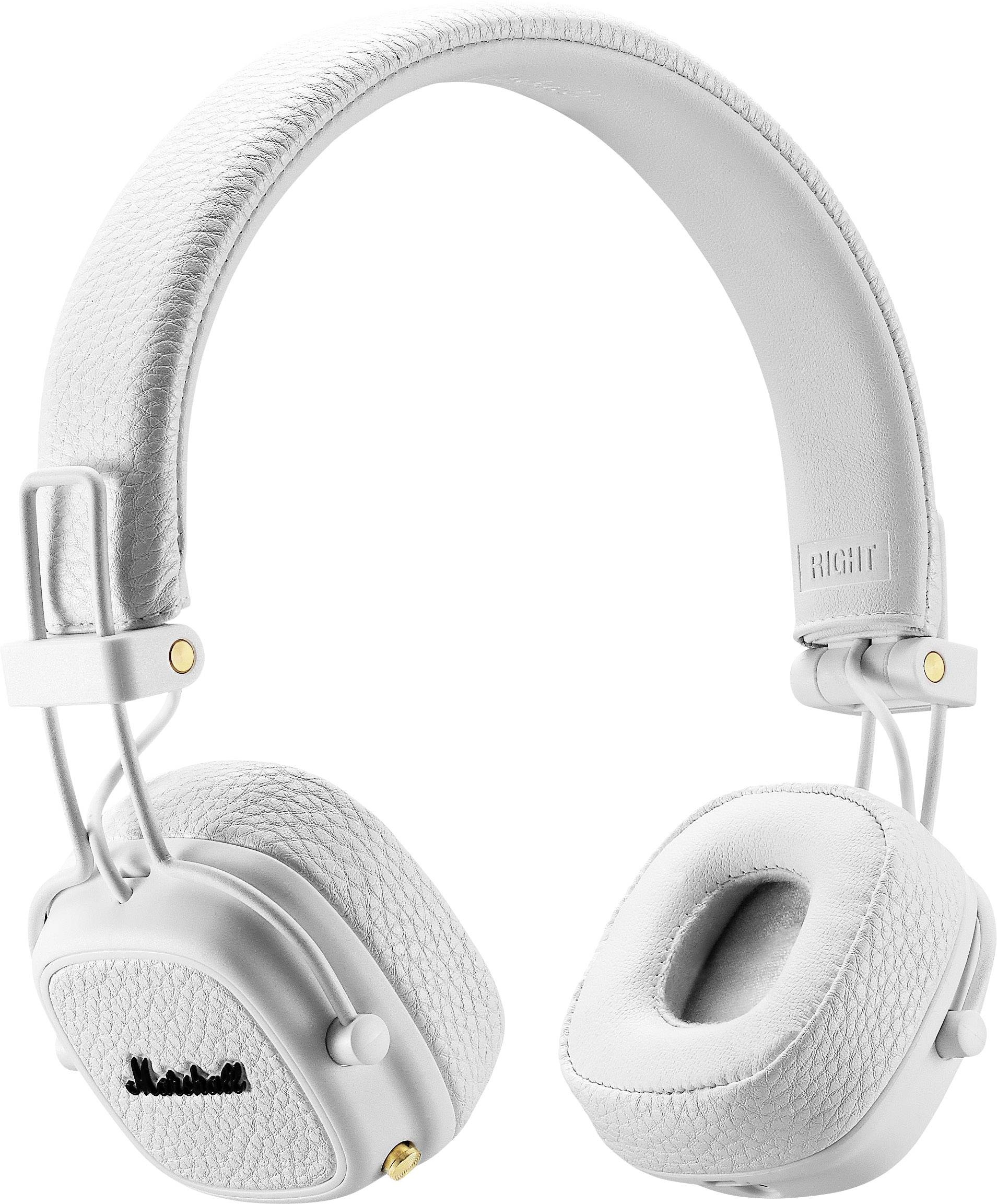 Marshall Major III Bluetooth Headset Faltbare Kopfhörer Weiß Stereo Gold