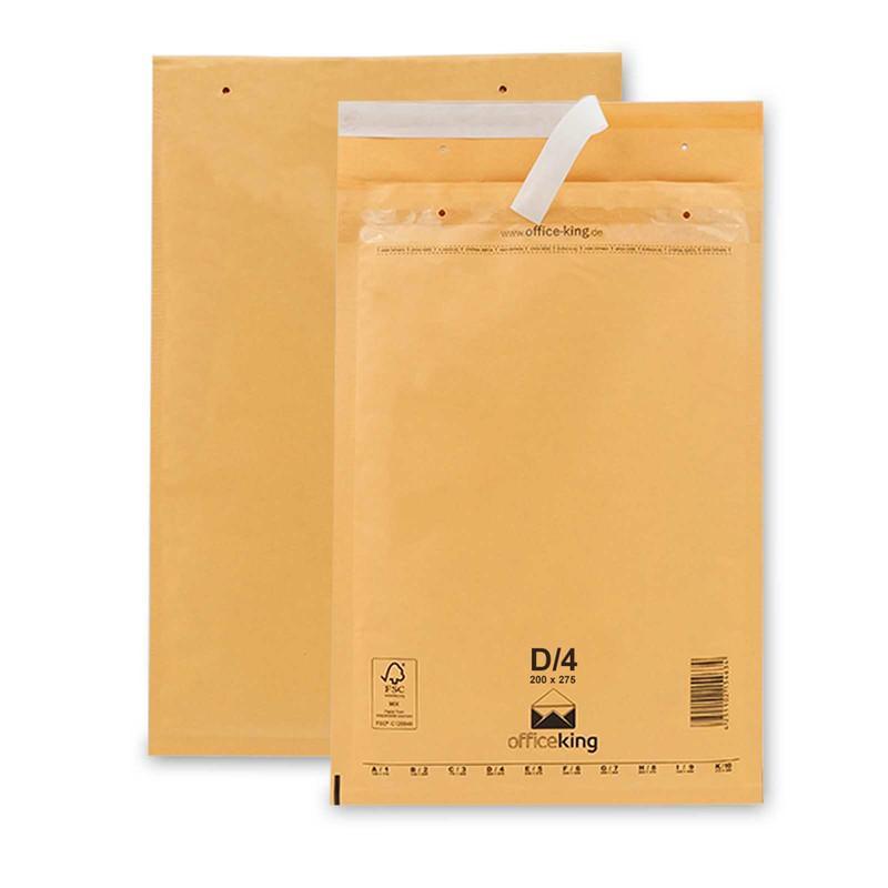 100 D4 Luftpolstertaschen Braun 200 x 275 mm