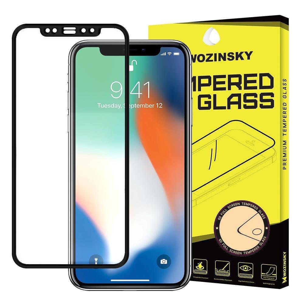 Wozinsky Tempered Glass Full Glue Super Robust Vollbild Hartglas mit Rahmen Case Friendly für Apple iPhone XR / iPhone 11 schwarz