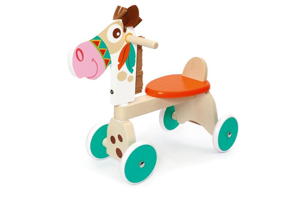 Scratch loopfiets paard Junior Multicolor