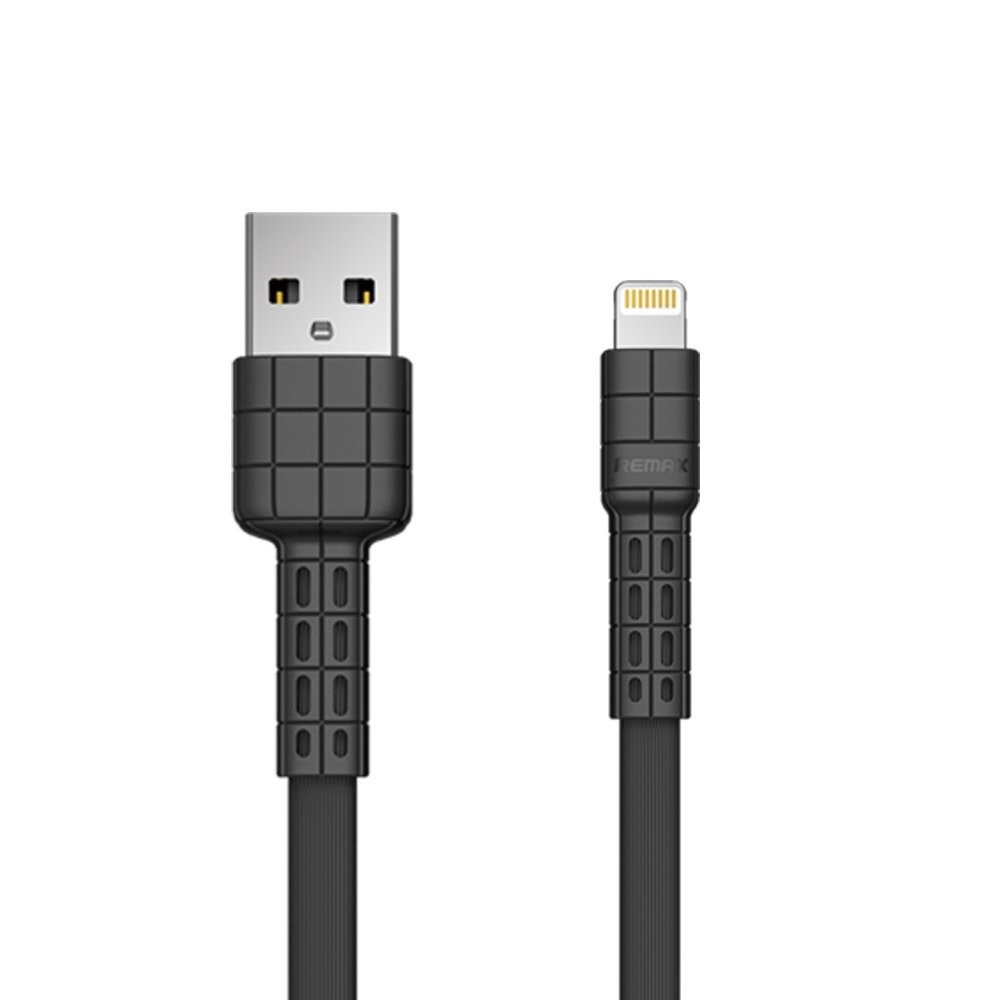 Remax Armor Series flaches USB / Lightning kabel 5V 2.4A schwarz