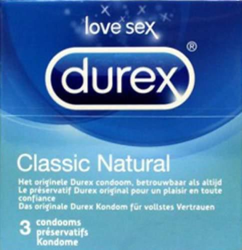 Durex Kondome 3er Classic Natural