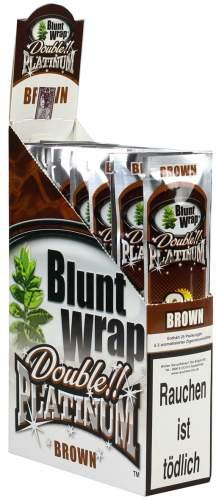 Blunt Wrap Double Platinum im 2er Pack, Brown (Chocolate) 25er Display