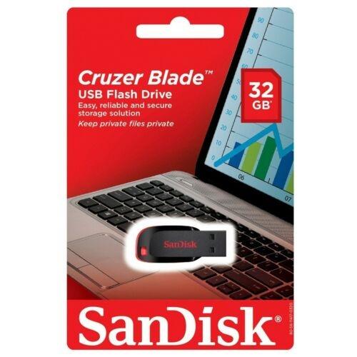 Sandisk Cruzer Blade USB Stick - Auswahl: 32GB Stick