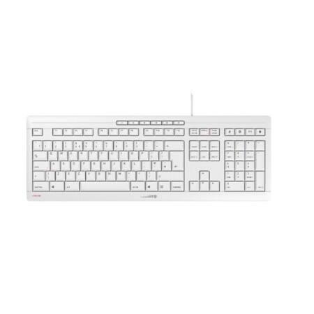 CHERRY Tastatur - Modell: Cherry STREAM KEYBOARD weiß UK-Layout