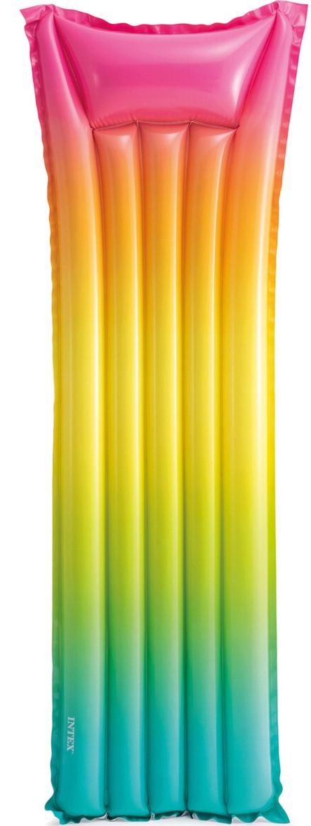 Aufblasbare Luftmatratze Matratze Schwimmliege Poolliege Stuhl Intex Bestway - Auswahl: Intex Regenbogen 170 x 53 cm