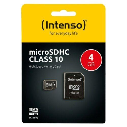 Intenso Micro SD Speicherkarte - Speicherkapazität: 4 GB / Class 4