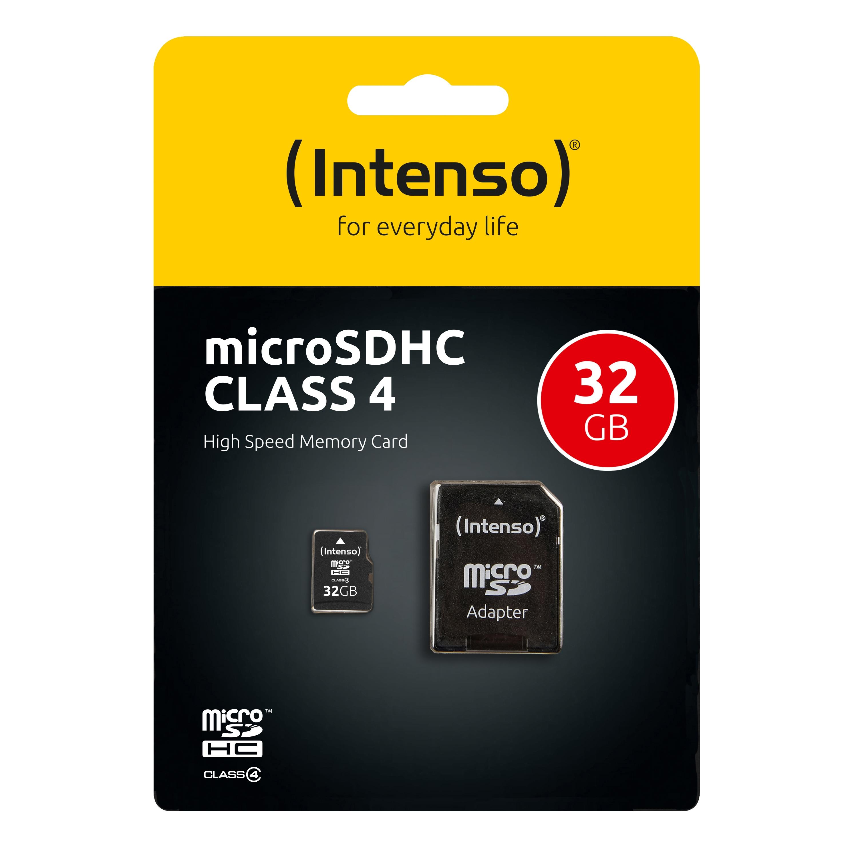 Intenso Micro SD Speicherkarte - Speicherkapazität: 32 GB / Class 4