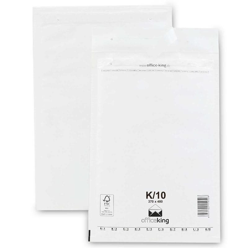 50 K10 Luftpolstertaschen Weiss 370 x 480 mm