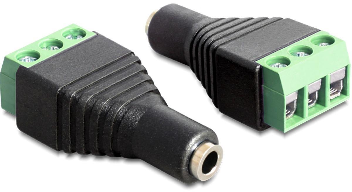 Adapter 3,5-mm-Buchse > Terminalblock