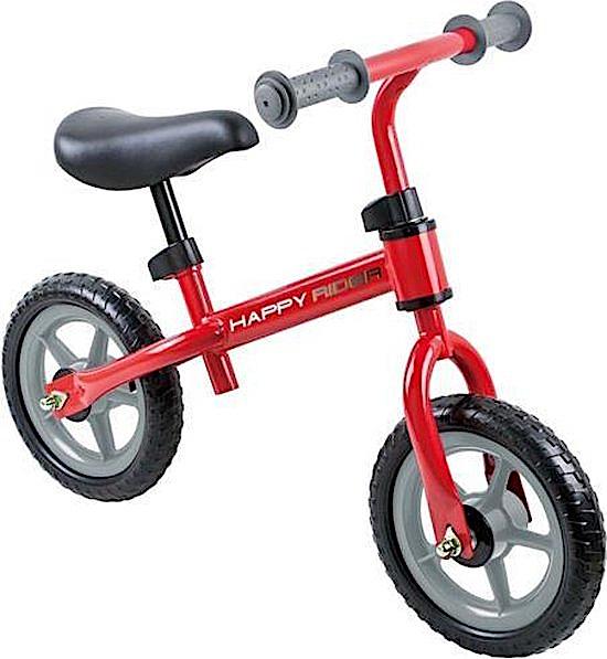 Playfun loopfiets Happy Rider 12 Zoll Junior Freilauf Rot