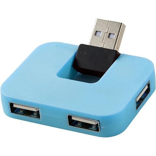 Gary USB Hub mit 4 Anschlüssen blau