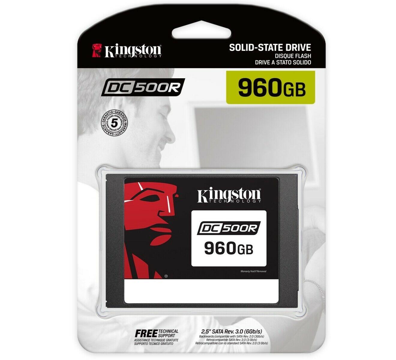 Kingston DC500R 960 GB SSD schwarz SEDC500R/960G
