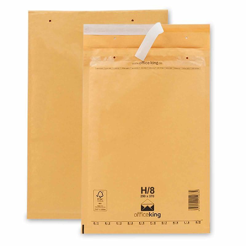 100 H8 Luftpolstertaschen Braun 290 x 370 mm