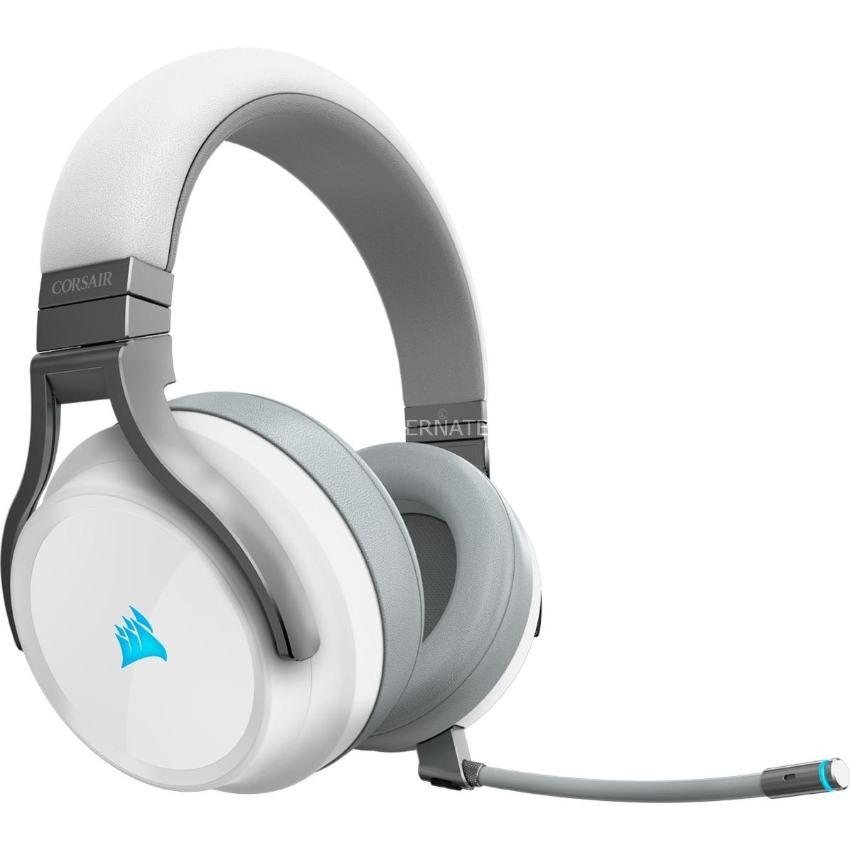 Corsair Virtuoso RGB Wireless Gaming Headset Weiß Virtual Surround Stereo