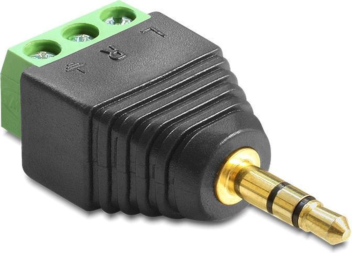 Adapter 3,5-mm-Stecker > Terminalblock