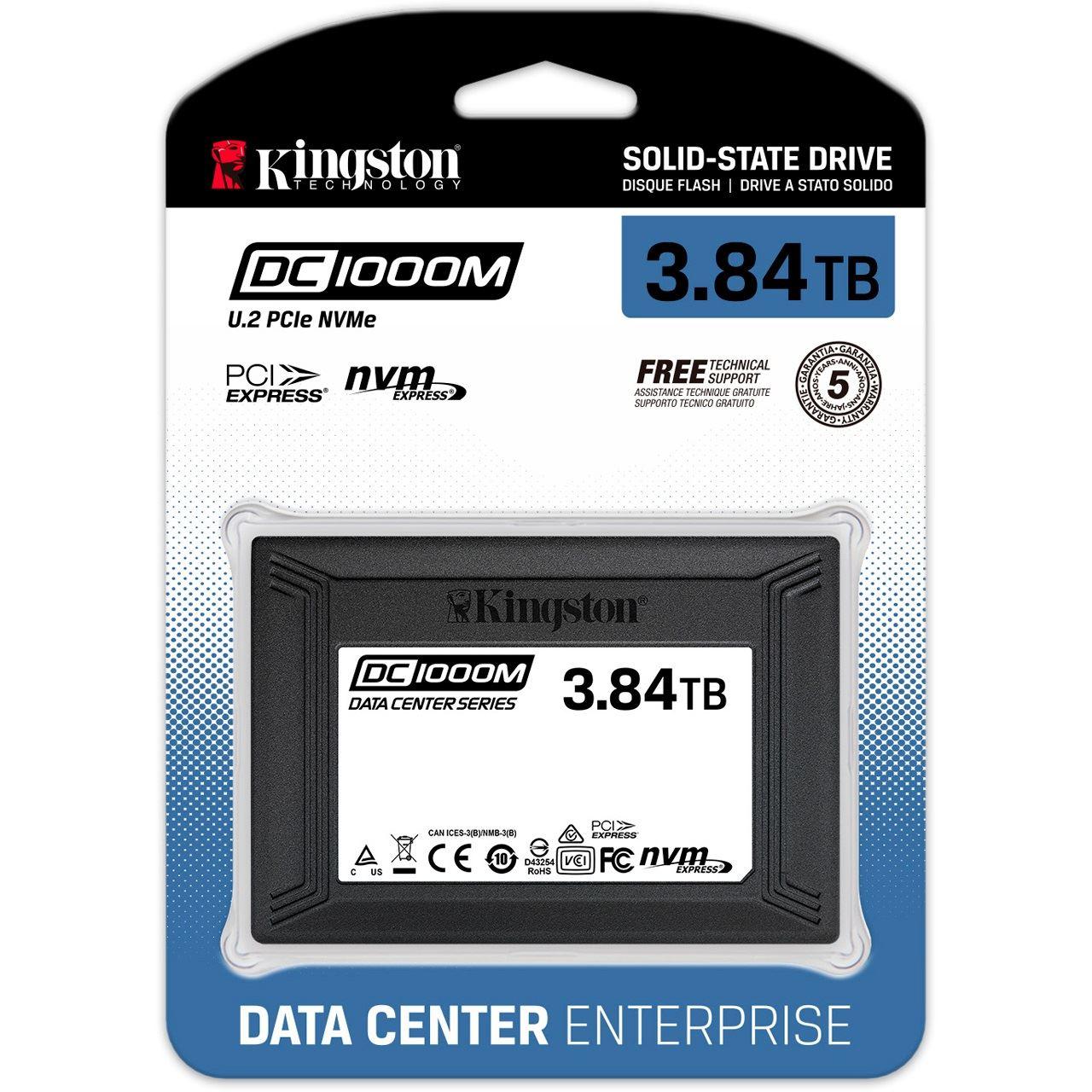 Kingston DC1000M 3840 GB SSD PCIe NVMe 3.0 x4 U.2