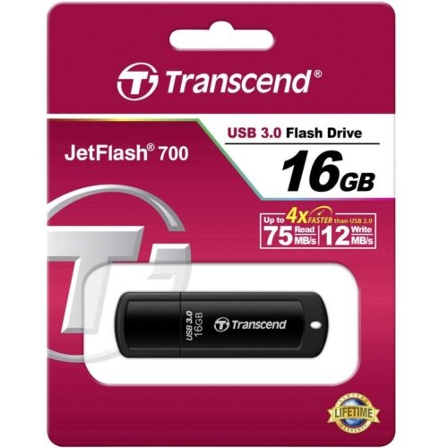 Transcend JetFlash 700 USB Stick 3.0 16 GB Flash Drive Speicherstick Memory MINI