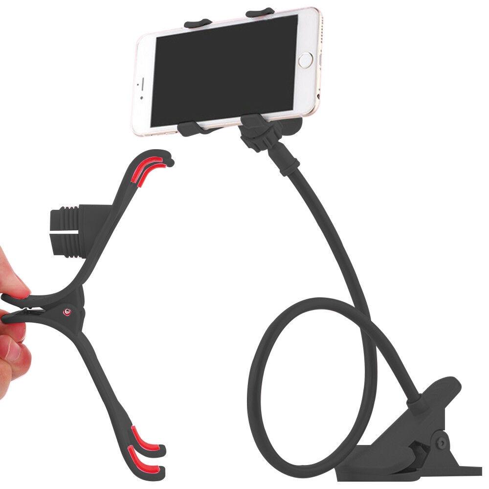 Smartphone Tischhalter Flexibel Schwanenhals Halter Betthalterung 360 Grad