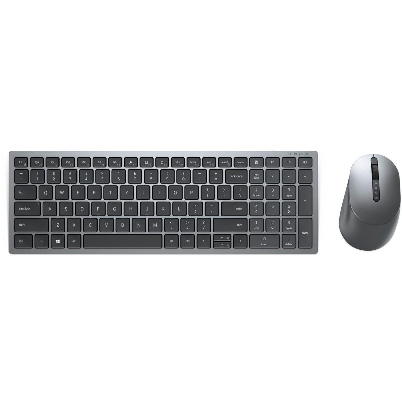 Dell Multi-Device-Set KM7120W, Desktop-Set grau/schwarz