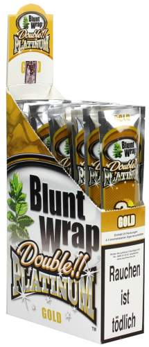 Blunt Wrap Double Platinum im 2er Pack, Gold (Wild Honey) 25er Display