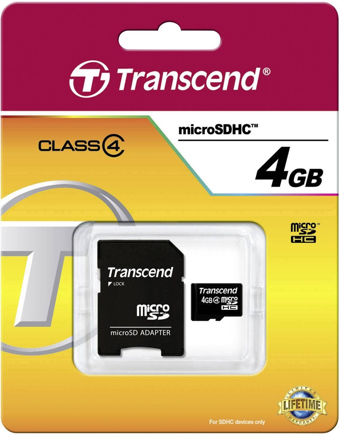 4 GB microSDHC Class, Speicherkarte