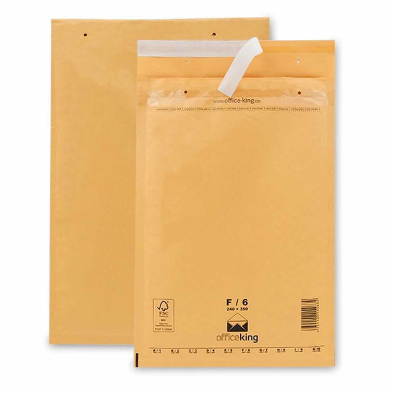 100 F6 Luftpolstertaschen Braun 240 x 350 mm (DIN A4)