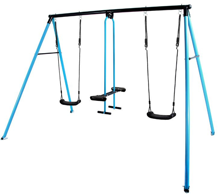 Hörby Bruk schaukel Cancan 275 x 215 cm Stahl blau/schwarz