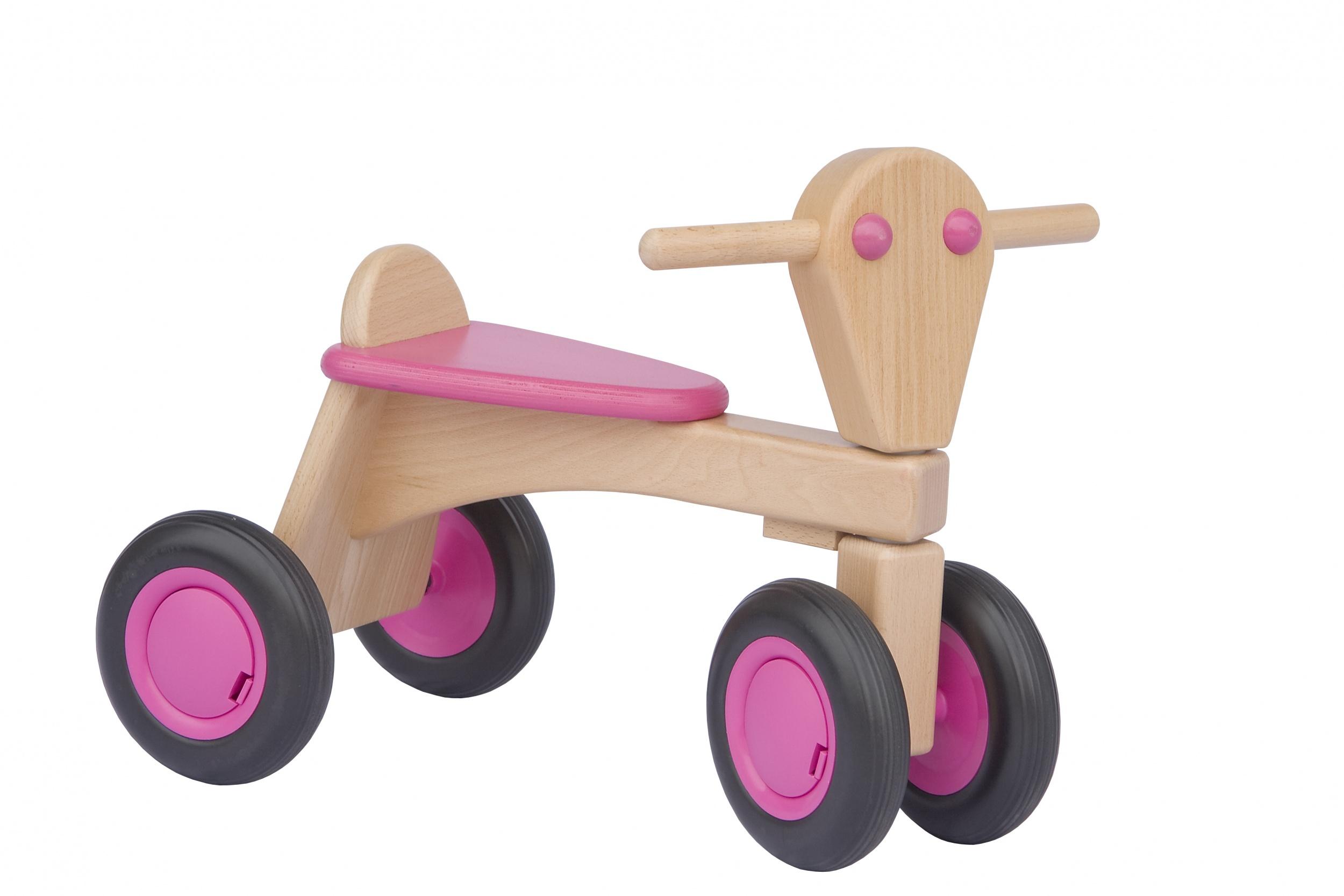 Van Dijk Toys houten loopfiets Junior Rosa