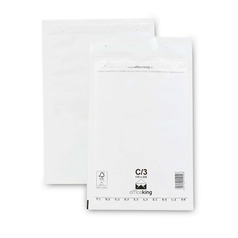 100 C3 Luftpolstertaschen Weiss 170 x 225 mm (DIN A5)