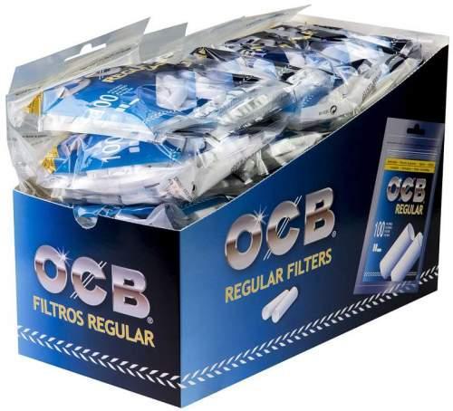 OCB Slim Filter Ø=6mm L= 15mm 100 im beutel 30 Beutel im Display