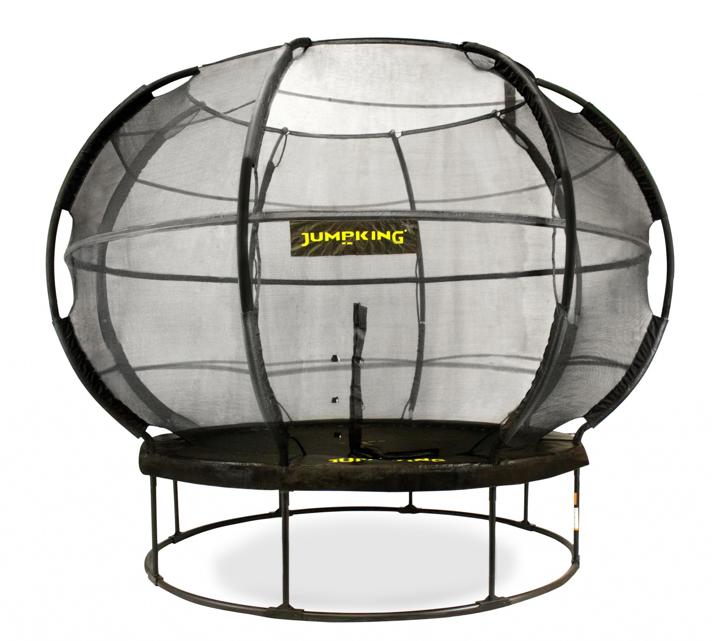 Jumpking trampolin mit Netz und Leiter ZorbPOD 366 cm schwarz
