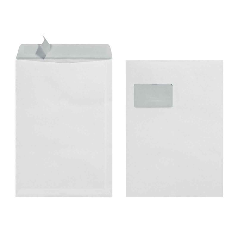 25 Herlitz Versandtaschen C4, haftklebend, mit Fenster, Weiß