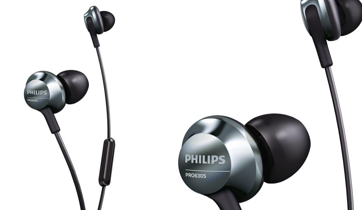 Philips PRO6105BK/00 Headset Schwarz Silber Ohrkanalhörer Stereo Kopfhörer