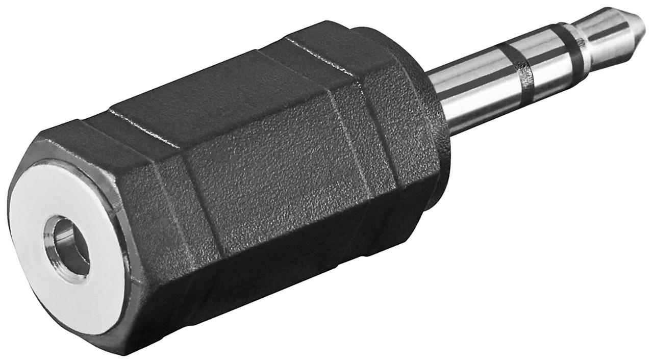Adapter 2,5mm (Buchse) > 3,5mm (Stecker)