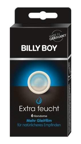 BILLY BOY Extra feucht 6 Kondome mit mehr Gleitfilm 6er Packung