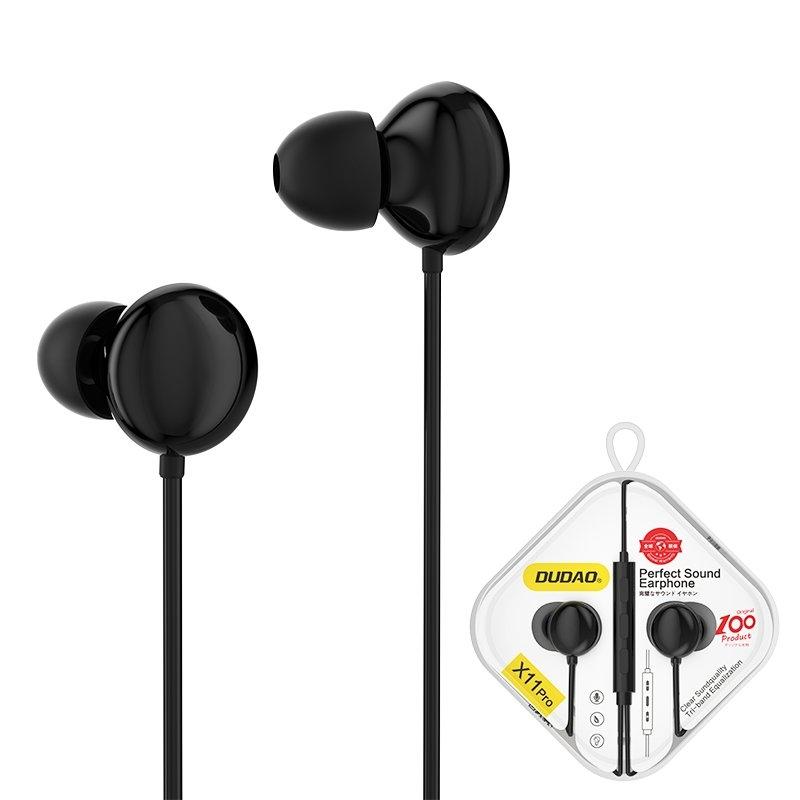 Dudao Kopfhörer mini jack 3,5 mm Headset mit Fernbedienung schwarz