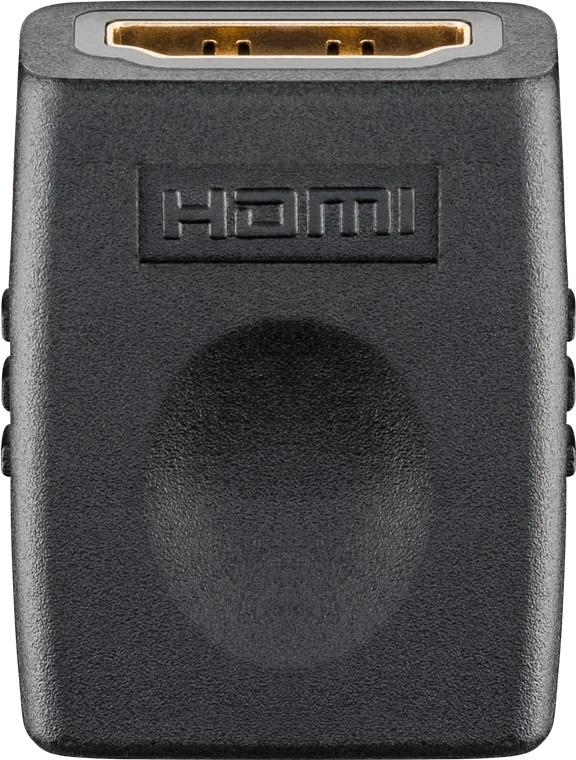 HDMI™ Adapter, vergoldet HDMI™-Buchse (Typ A) > HDMI™-Buchse (Typ A)